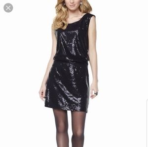 NWT the limited black sequin sleeveless dress sz L